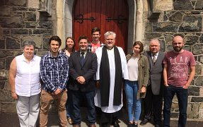 The YWAM Team with our Rector and Wardens