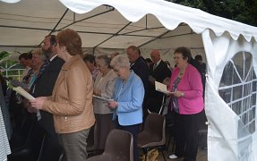 Praise Service in the Marquee